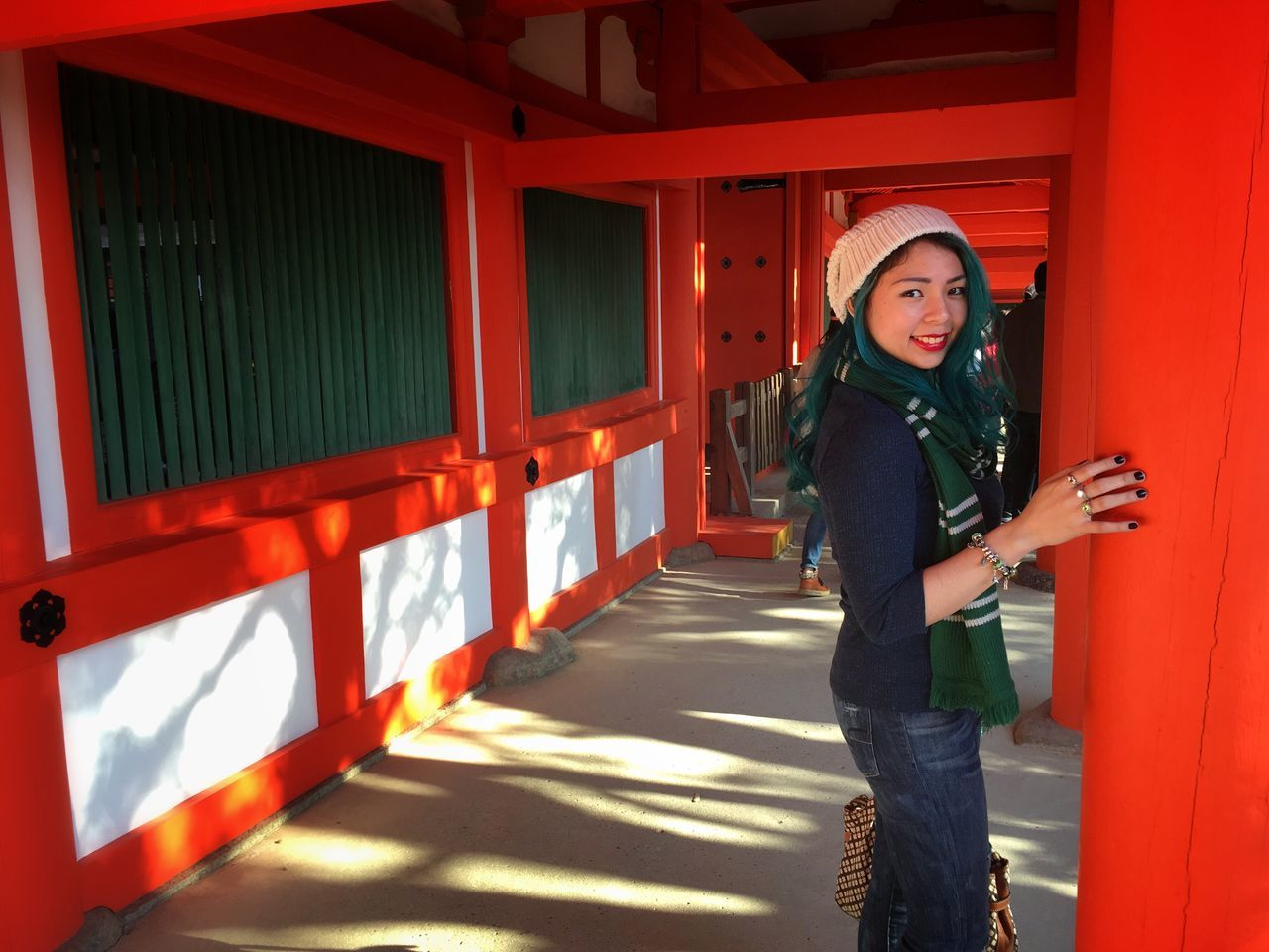 Travelling One Person Front View Real People Casual Clothing Lifestyles Full Length Looking At Camera Standing Young Adult Portrait Young Women Day Outdoors Architecture People Traveling Filipino Filipina IAmFilipina Wheninjapan Japan Japanese Culture Travel Kasuga Taisha