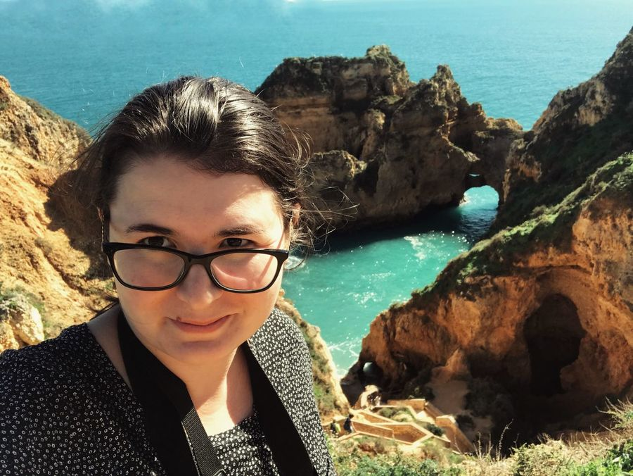 Lagos Tourist Selfie Portrait Sea Eyeglasses  Water Rock - Object Looking At Camera Young Adult One Person Real People Young Women Day Nature Leisure Activity Outdoors Beauty In Nature Lifestyles Sky People