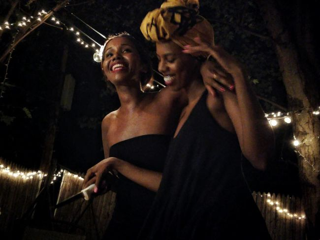Low Angle View Young Women Portrait Of A Woman Headdress Black Woman Afrocentric  Strong Woman Culture Enjoying Life Portrait Photography Black Is Beautiful Blackness Woman Portrait Somolian Black Best Friends Headwrap  Facial Expression