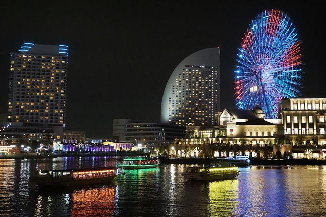 2017 Japan Pokemon Go Pokémon Yokohama Architecture Building Exterior Built Structure City Events Ferris Wheel Illuminated Night Outdoors Sky ポケモン ポケモンGO 屋形船 観覧車