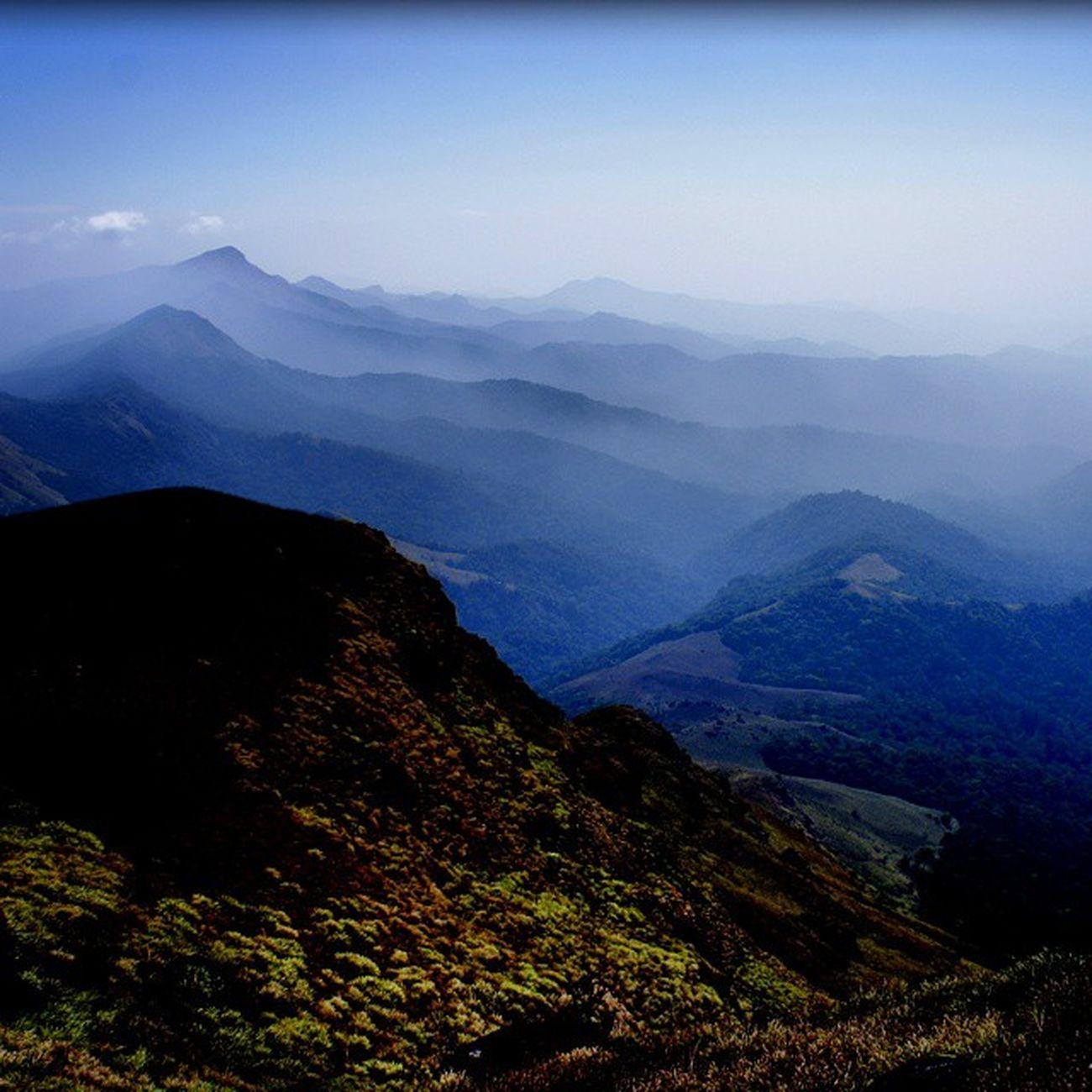 Tandiandamol Trekking Mountains Clouds Awesome Amazing Scenery Landscape Coorg Karnataka InstaBangalore InstaIndia