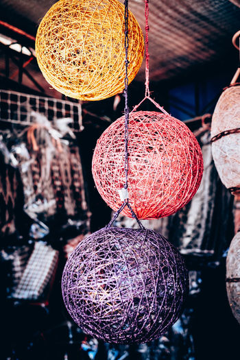 Abaca Ambience Business Colorful Decor Dyed Handcrafted Handmade Hanging Light Shades Light System Living Room Muted Colors Native Product Strewn Variation