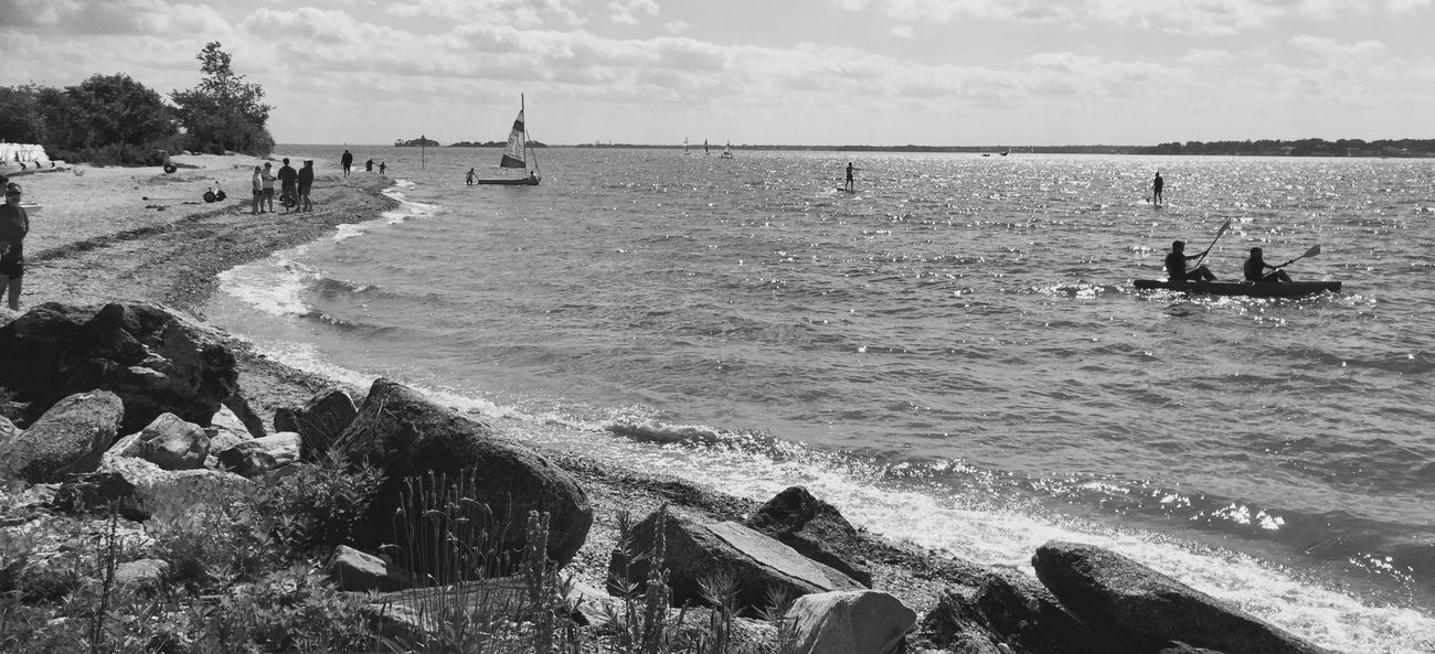 On the Shore Shoreline Greenwich, CT Kayaking Water Blackandwhite Blackandwhitephotography Monochrome