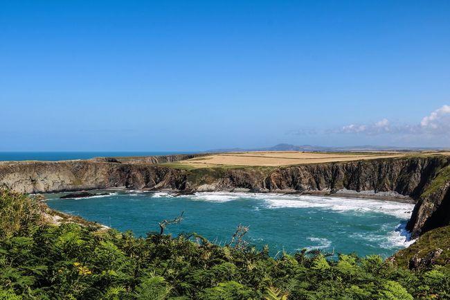 Beach Blue Clear Sky Horizontal Landscape No People Outdoors Pembrokeshire Pembrokeshire Coast Scenics Sea Tranquil Scene Water
