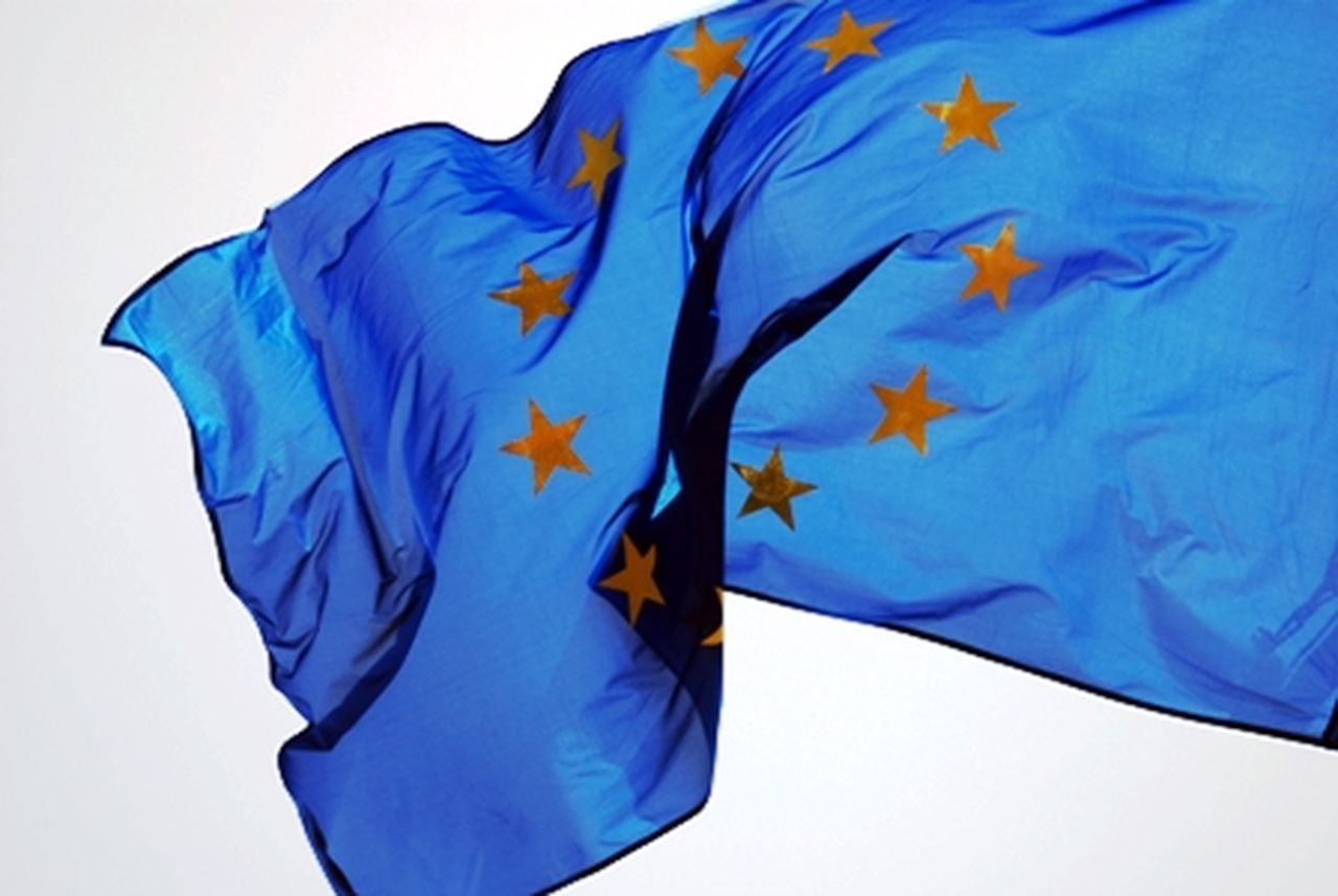 eu Blue Close-up Eu Europe Europe Flag Flag Stars Studio Shot Waves White Background