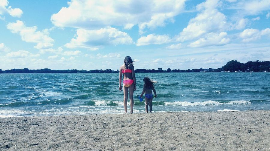 Lake Lakeside Lake Life Sisterly Love Sisters ❤ Unbreakable Bond Relaxing Clouds And Sky Natural Beauty Riverratsforlife South Dakota
