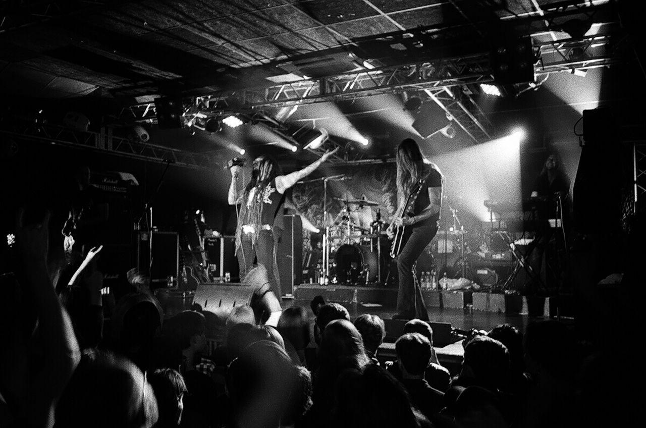Black & White Blackandwhite Photography Film Photography Filmphotography Concert Photography Amorfis Rock Concert Metall