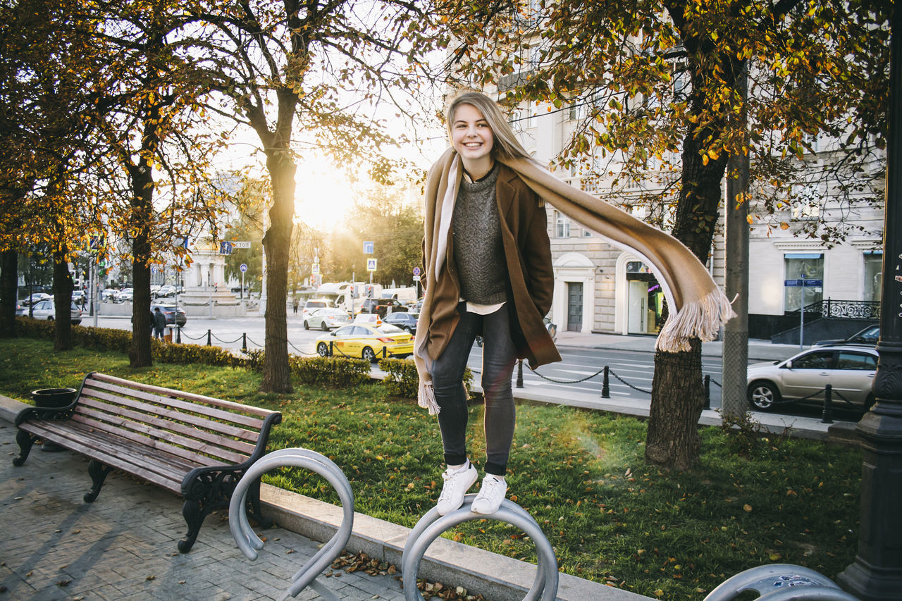 Beautiful stock photos of moscow, 18-19 Years, Balance, Car, Casual Clothing