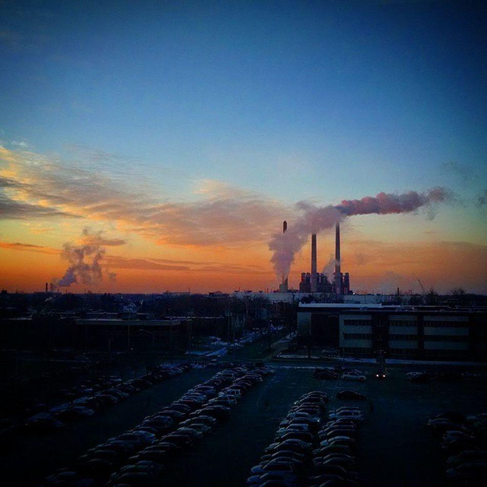 Sunrise over Lovelansing , Gm  Grand River Assembly Plant. Industry