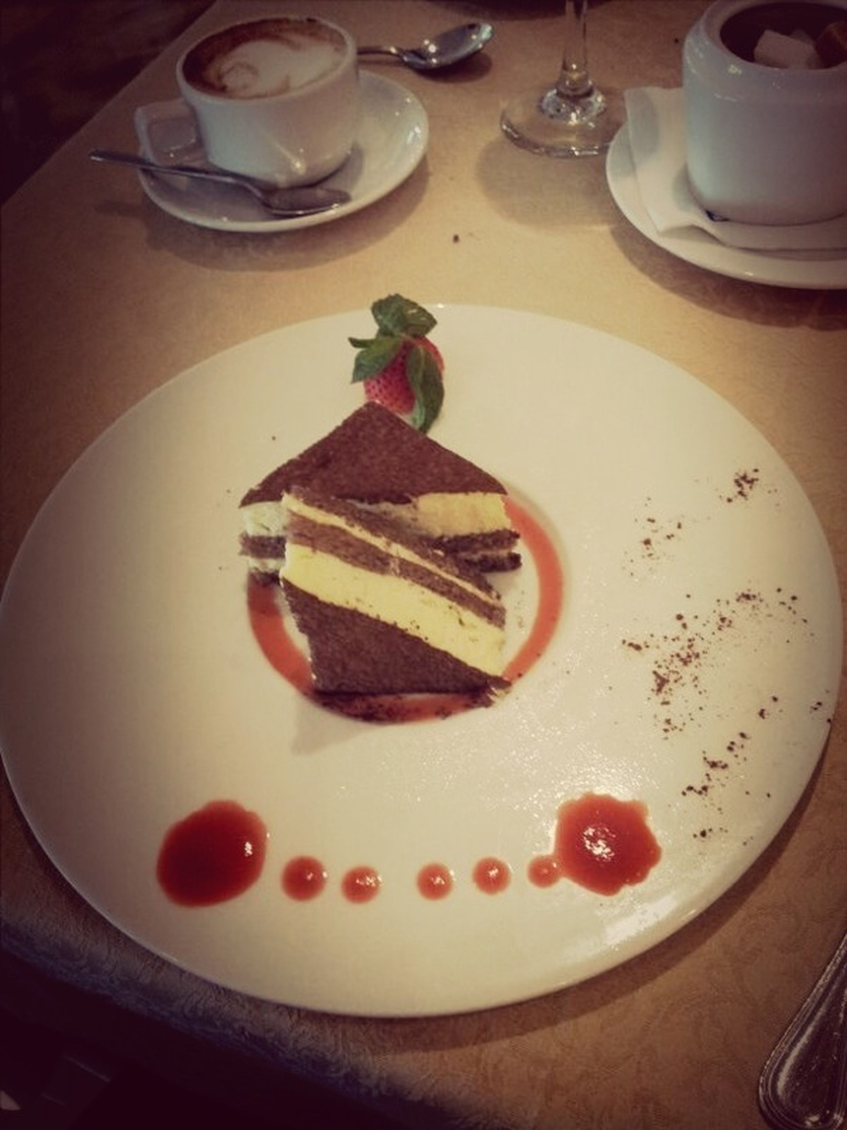 food and drink, indoors, food, plate, freshness, sweet food, ready-to-eat, dessert, still life, indulgence, table, cake, serving size, unhealthy eating, high angle view, close-up, temptation, fork, chocolate, breakfast