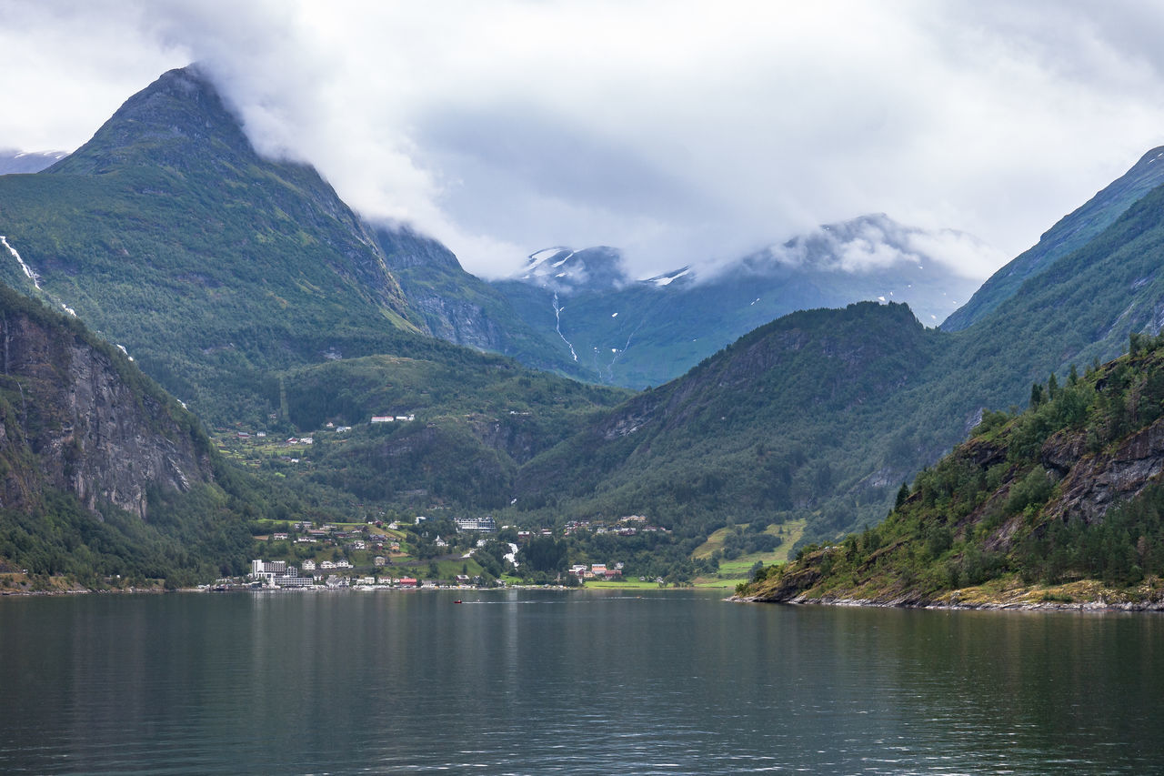 Cloud Dramatic Sky Ferry Geirangerfjord Norway Beauty In Nature Cloud - Sky Day Fjord Geiranger Landscape Mountain Mountain Range Nature No People Outdoors Range Scenery Scenics Sky Tourism Tranquil Scene Tranquility Water Waterfront