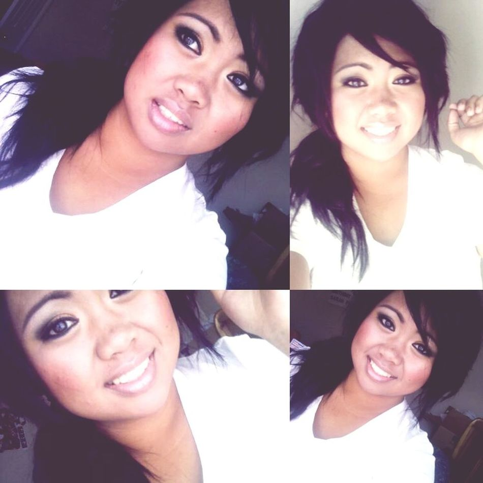 When I was dark as hell lol High School Days Makeup Days Ew Lol