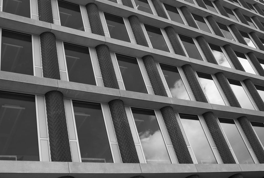 Architecture Backgrounds Blackandwhite Building Exterior Built Structure Check This Out Day Façade Full Frame No People Outdoors Pattern Taking Photos Window