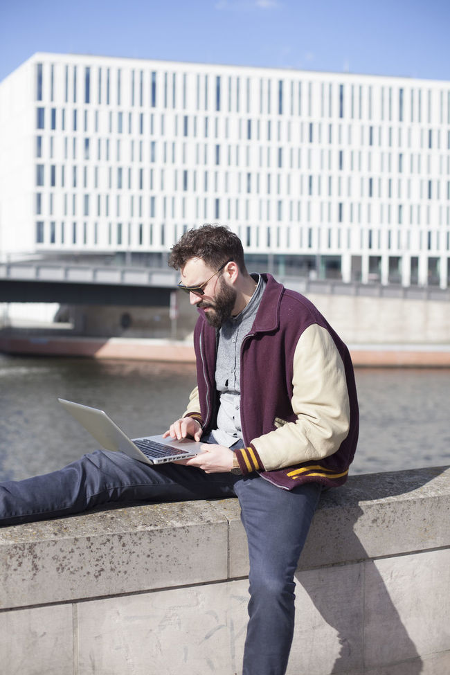 Berlin Cool Guy Notebook Portrait Student Studying