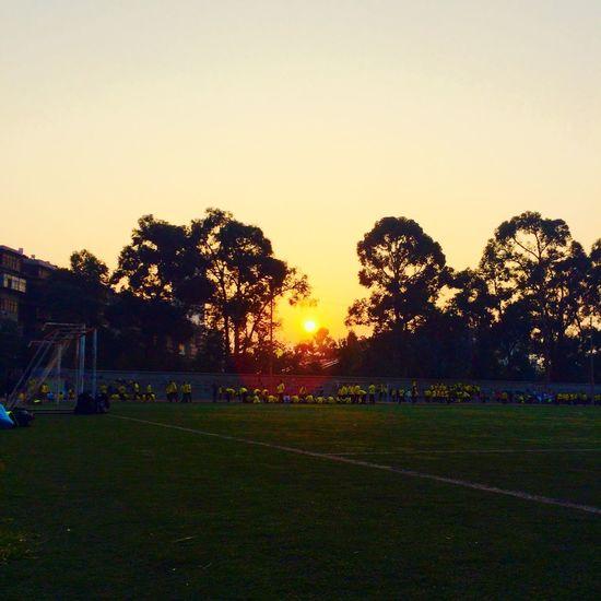 学校的一个早晨。School Life.Good morning! Good Morning Morning Morning Sky Sun