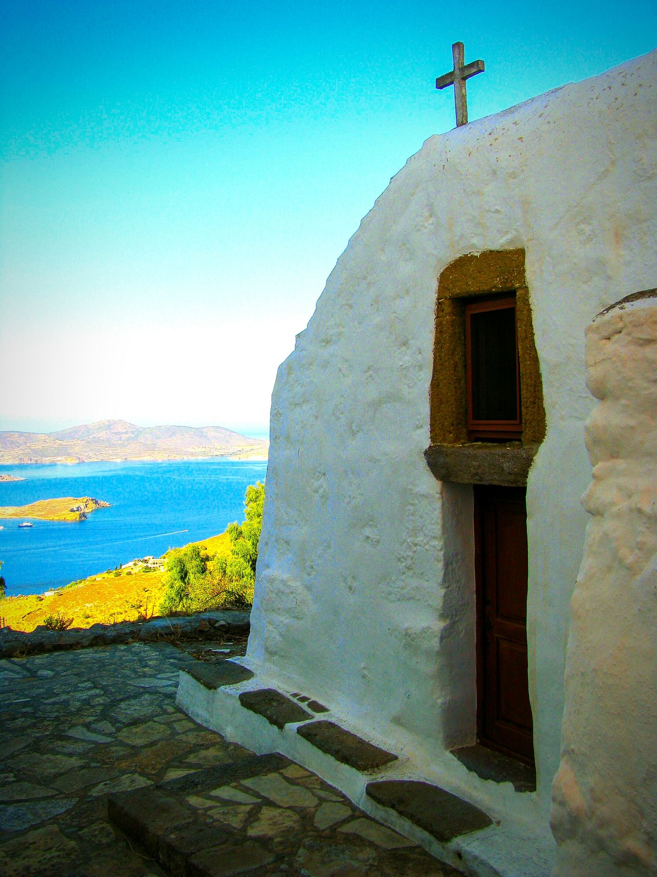 Country Church Church Greek Islands No People Amazing View Shades Of Blue Studies Of Whiteness WhiteCollection White Album NEM Still Life Plattenbau Seeing The Sights Tranquility Shadows The Best From Holiday POV Walking Around Endless Blue Patmos Island Summer Memories 🌄 The Tourist Pastel Power Wallpaper A Moment Of Zen... Religious Architecture