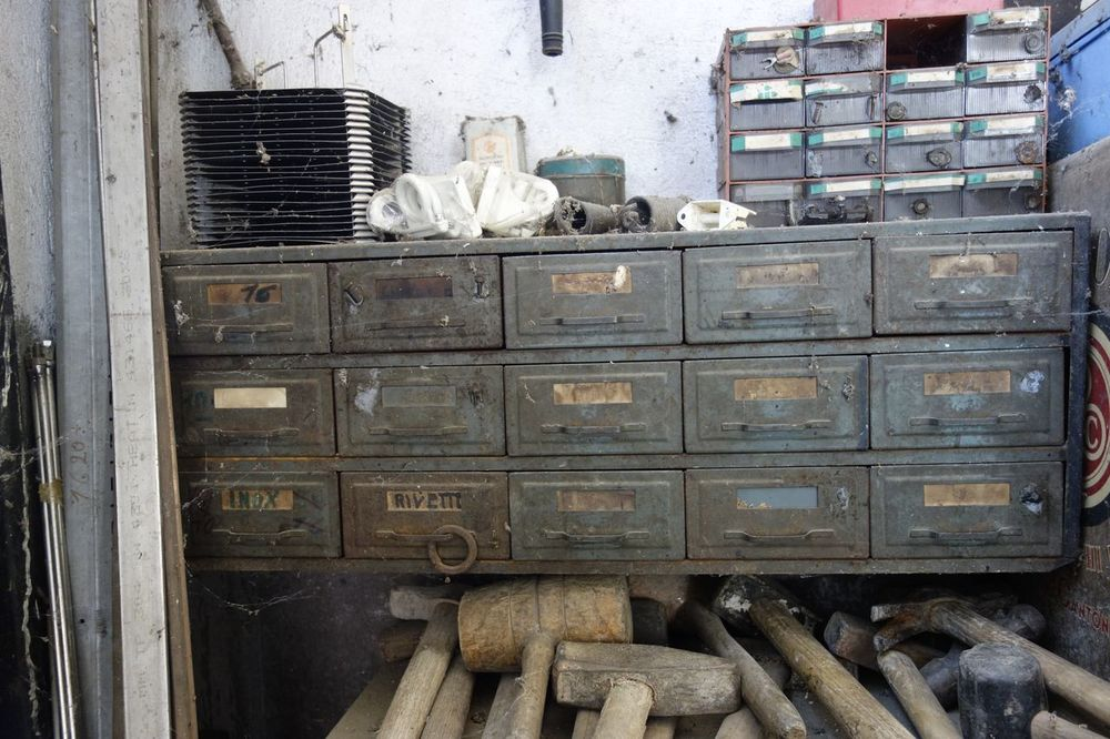 Drawers Hammers Vintage Work Station No People Indoors  Iron - Metal Iron