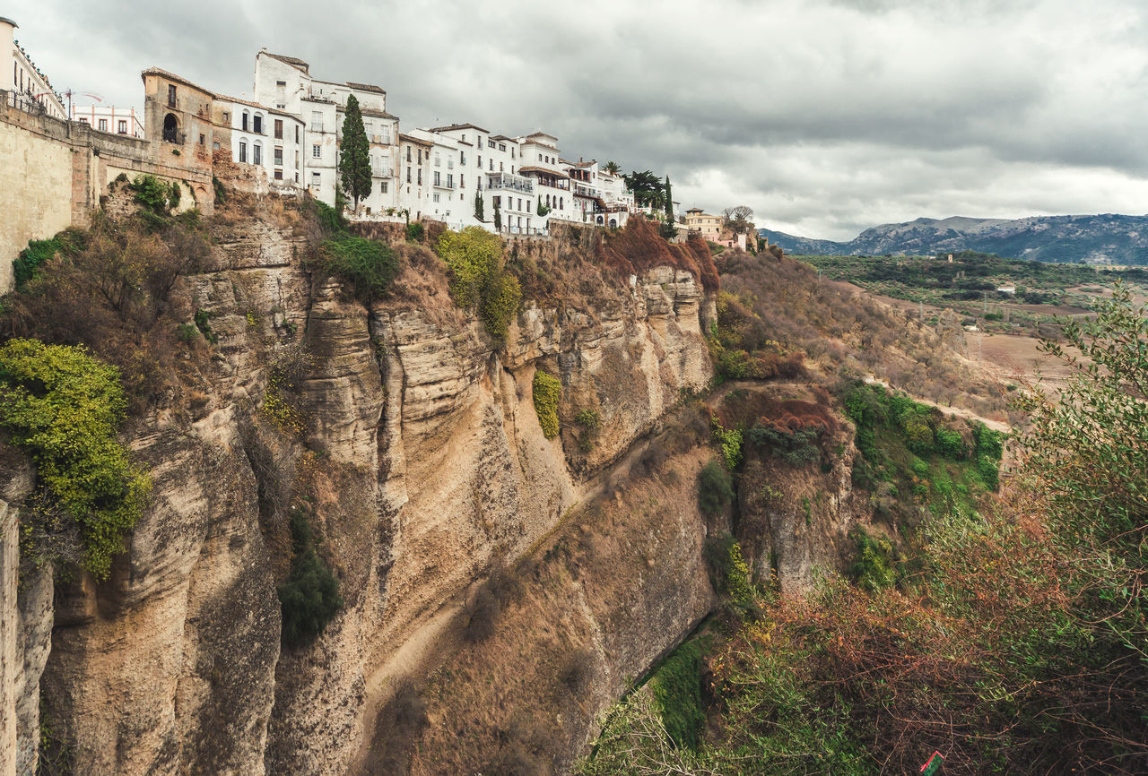 Picturesque view of Ronda city. Province of Malaga, Andalusia, Spain Amazing Nature Ancient Architecture Andalusia Beauty In Nature Canyon Cliffs Cloud - Sky Costa Del Sol Famous Place Heritage Houses Landmark Landscape Malaga Mountain Nature Outdoors Picturesque Village Rocky Mountains Ronda Spain SPAIN Tourist Attraction  Town Travel Destinations Village