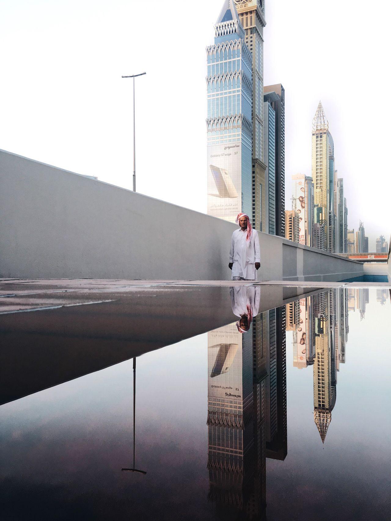 Beautiful stock photos of dubai, reflection, water, built structure, waterfront