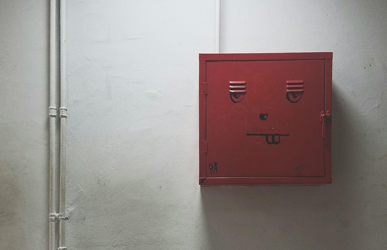 metal, door, communication, no people, red, day, indoors, close-up