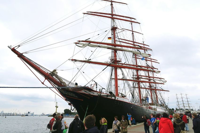russian sailing ship Kruzenshtern during hansesail event in Warnemuende. yearly meet up of biggest sailing ships in the world. Day HanseSail Hansesail 2016 Harbor Harbor View Kruzenshtern Lifestyles Mast Mode Of Transport Outdoors People Rostock Rostock 2016 Rostocker Hafen Rostocker Stadthafen Sailing Sailing Boat Sailing Boats Sailing Ship Ship Sky Tourism
