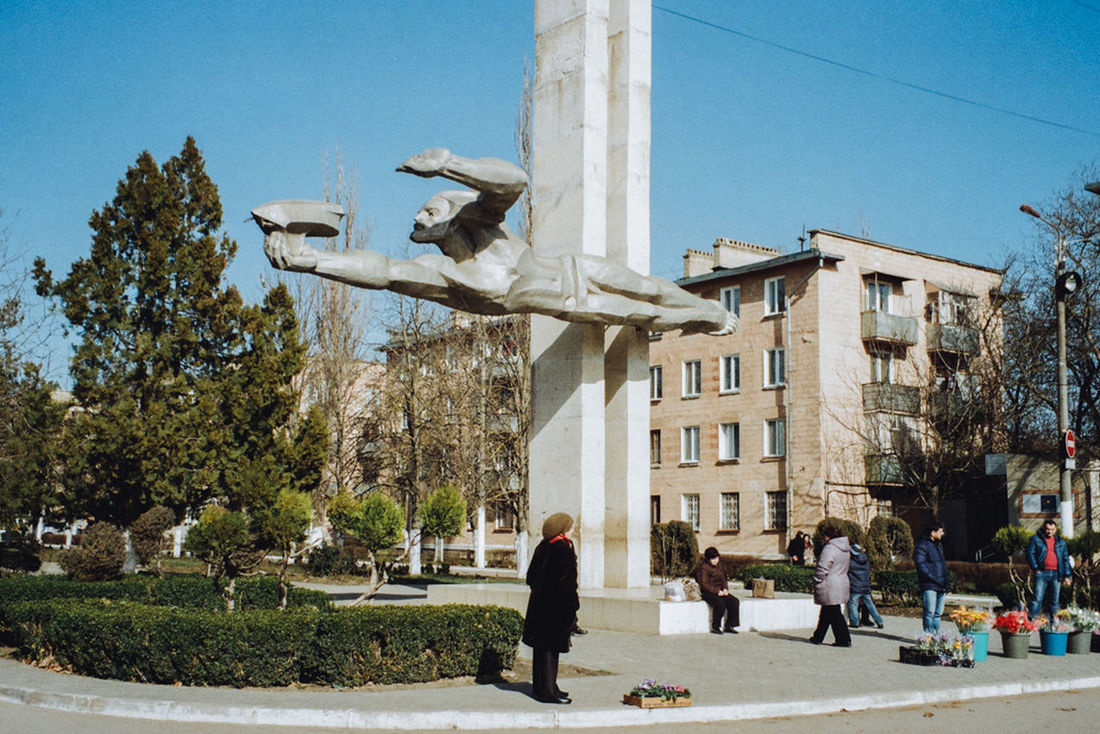 Monument to Prometheus in the Dnestrovsk city. Here is the largest power plant of Moldova. Prometheus who according to legend gave fire to people is one of the symbols of the Dnestrovsk. Visualanthropology Moldova Transnistria Art Monument Ussr Folks Stele Sovietart Sovietarchitecture Soviet Era