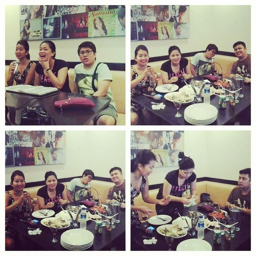 thanks sai for the dinner and nosebleed lolDampa Macapagal Seafood Videoke Friends Australianaccent