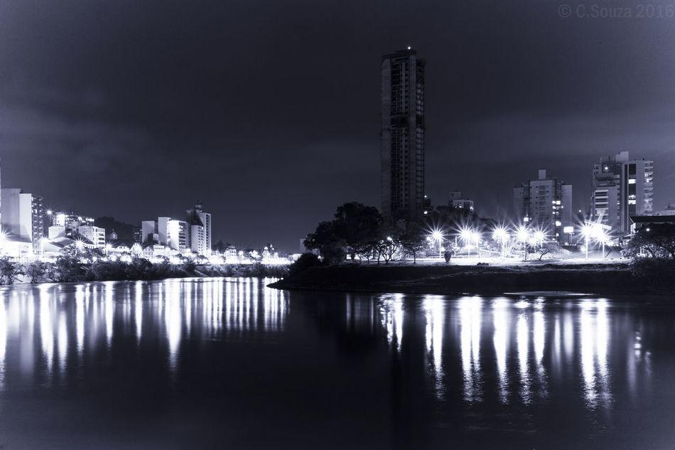 Architecture Blumenau Built Structure Cidade Iluminada City City Life Illuminated Modern No People Outdoors Praça Iluminada Reflection Rio Rio Itajaí-Açu River Water