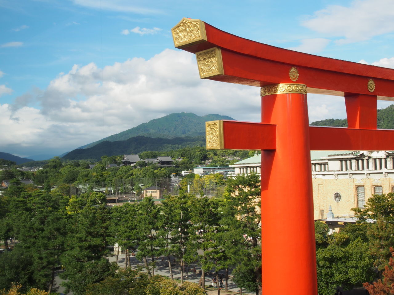 ASIA Architecture Blue Sky Day Green Color Hiei Mounten Hieizan Japan Japan Photography Japanese Colors Japanese Style Kan Kinki Outdoors Red Shrine Sky Sultry Day Torii Gate Vermilion