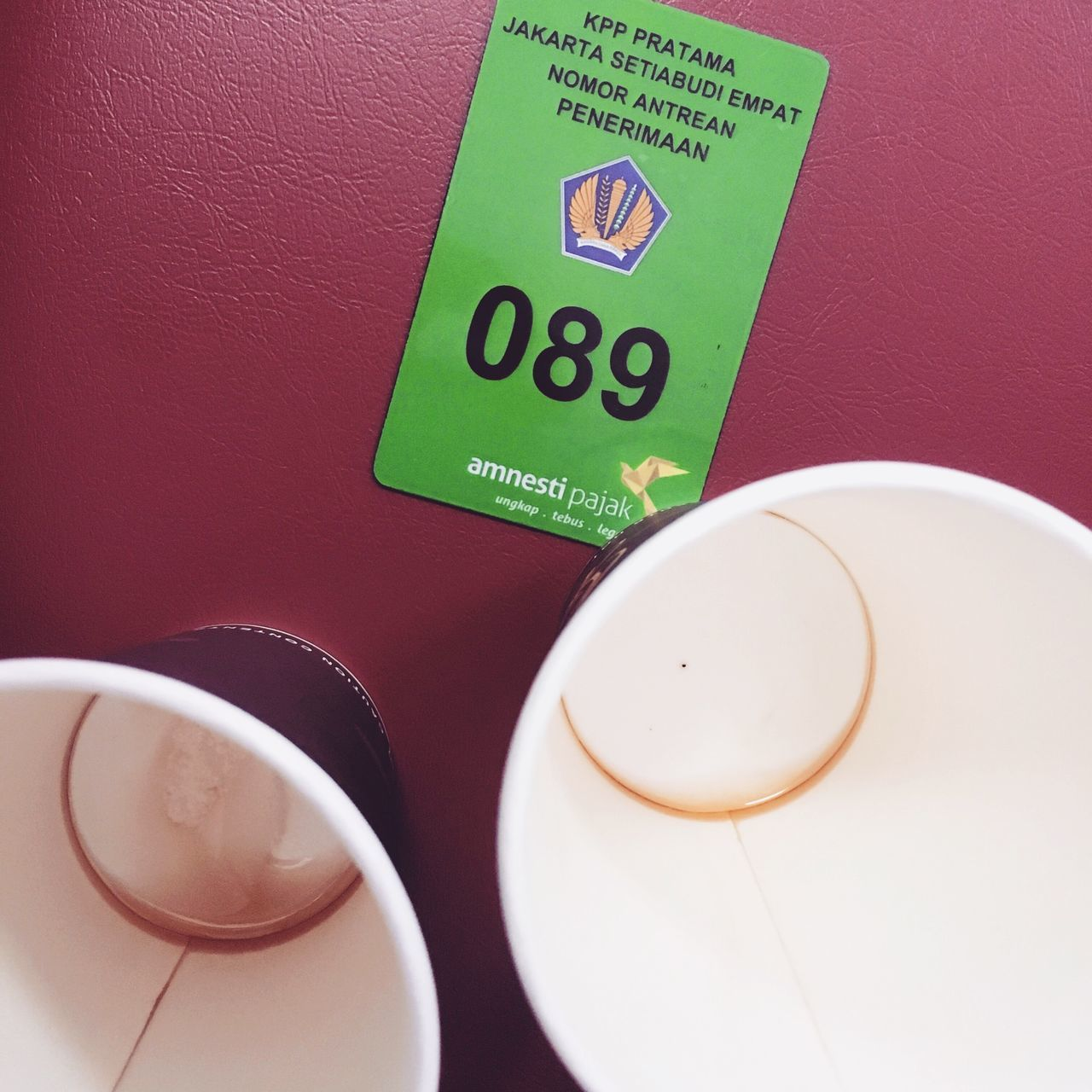 Waiting Process for Tax Amnesty Tax Tax Amnesty Waiting In Line Coffee Coffee ☕ INDONESIA OBEY Timepass Two Cups Pajak