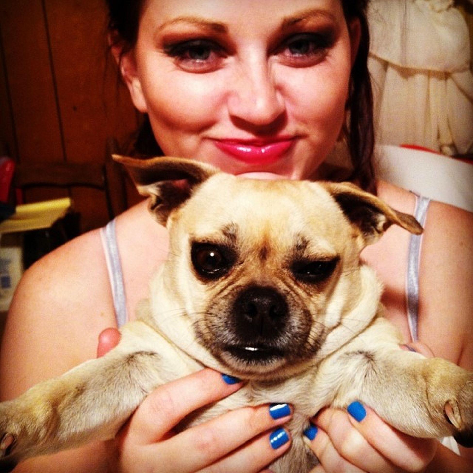Pug just wants to hug! She kinda looks like UncleRuckus