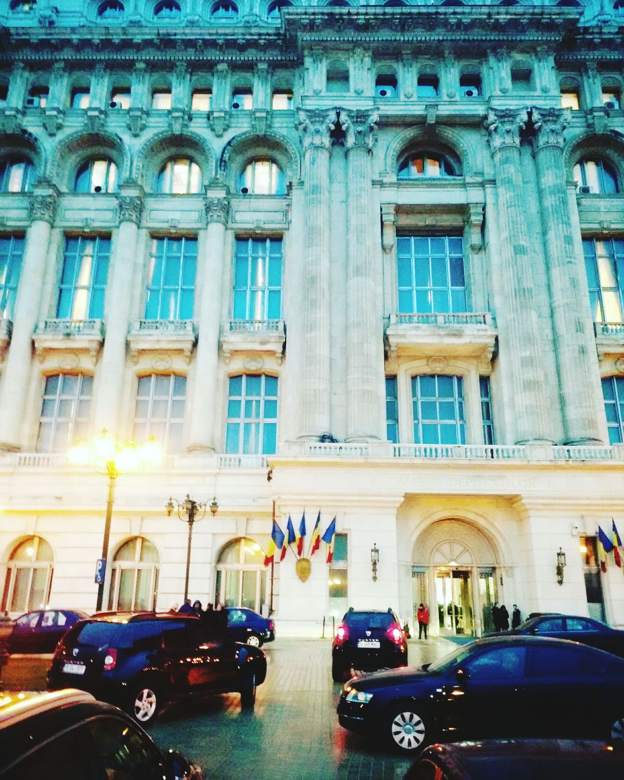 The Palace of the Parliament of Romania Building Exterior Architecture Car Transportation Built Structure Outdoors City Illuminated Yellow Taxi Travel Destinations Romaniafrumoasa Close-up EyeEm Gallery Eyeem Best Shot Night Tourism Party - Social Event