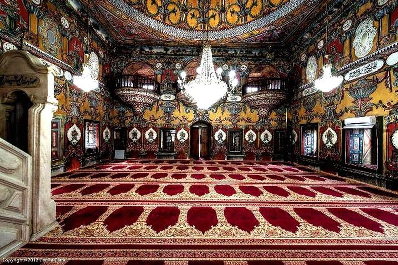 Architecture Religion Muslim Mosque Beautiful Indoors  Red Day