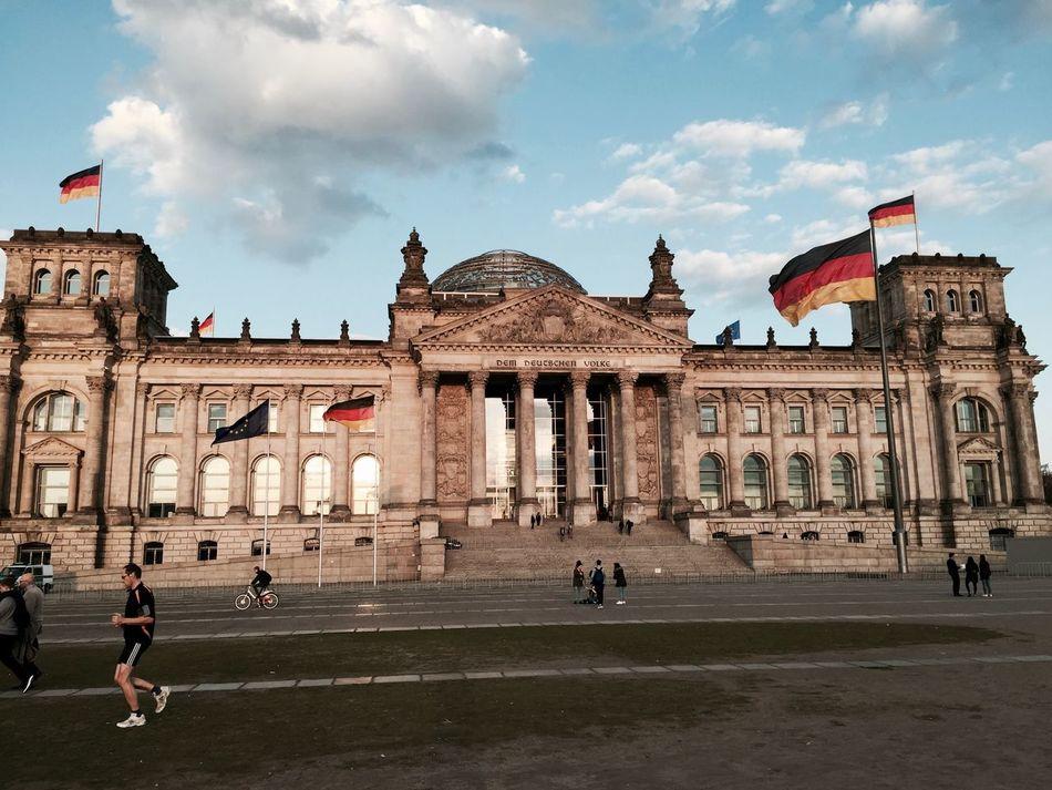 Architecture Berlin Berlin City Building Exterior Built Structure Bundestag Bundestag Berlin City Cloud - Sky Day Dem Deutschen Volke Deutschland Façade Germany History Large Group Of People Outdoors People Reichstagskuppel Sky Tourism Travel Travel Destinations