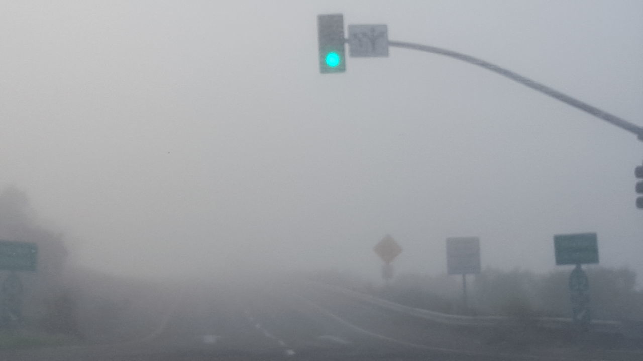 Day Driving Conditions Fog Lighting Equipment Morning Fog No People Outdoors Street Light