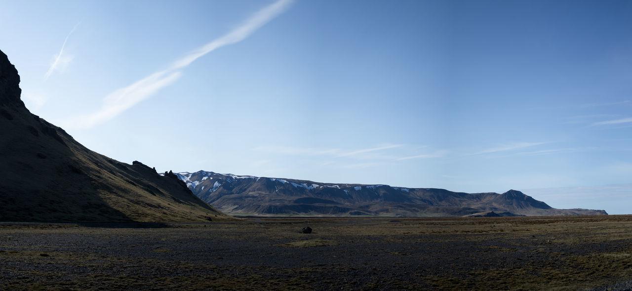 Landscape in Iceland Blue Sky Dead Lands Lava Field Lavafield Mountain Mountain Range Mountains And Sky Sky Landscape Landscape_Collection