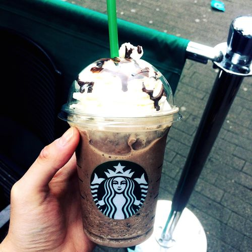 Food And Drink Holding Sweet Food Drink Refreshment Starbucks