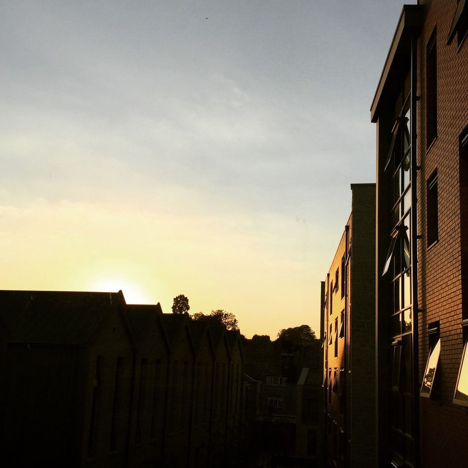 City of Bath.. Architecture Residential Structure Sky Silhouette Sunset England Bathcity
