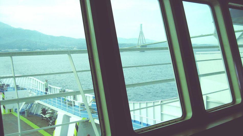 Taking Photos Rio-antirio Bridge Ship Sea_collection Sea EyeEm Best Shots Ριο Ferryboat γεφυρα Popular Photos