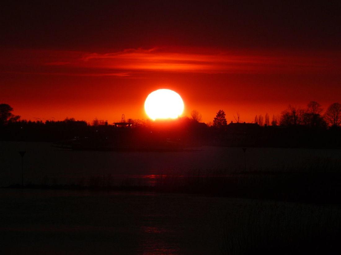 Silhouette Sky Sunset Bloodredsun Bloodred Sunset Bloodredsky Silhouettes