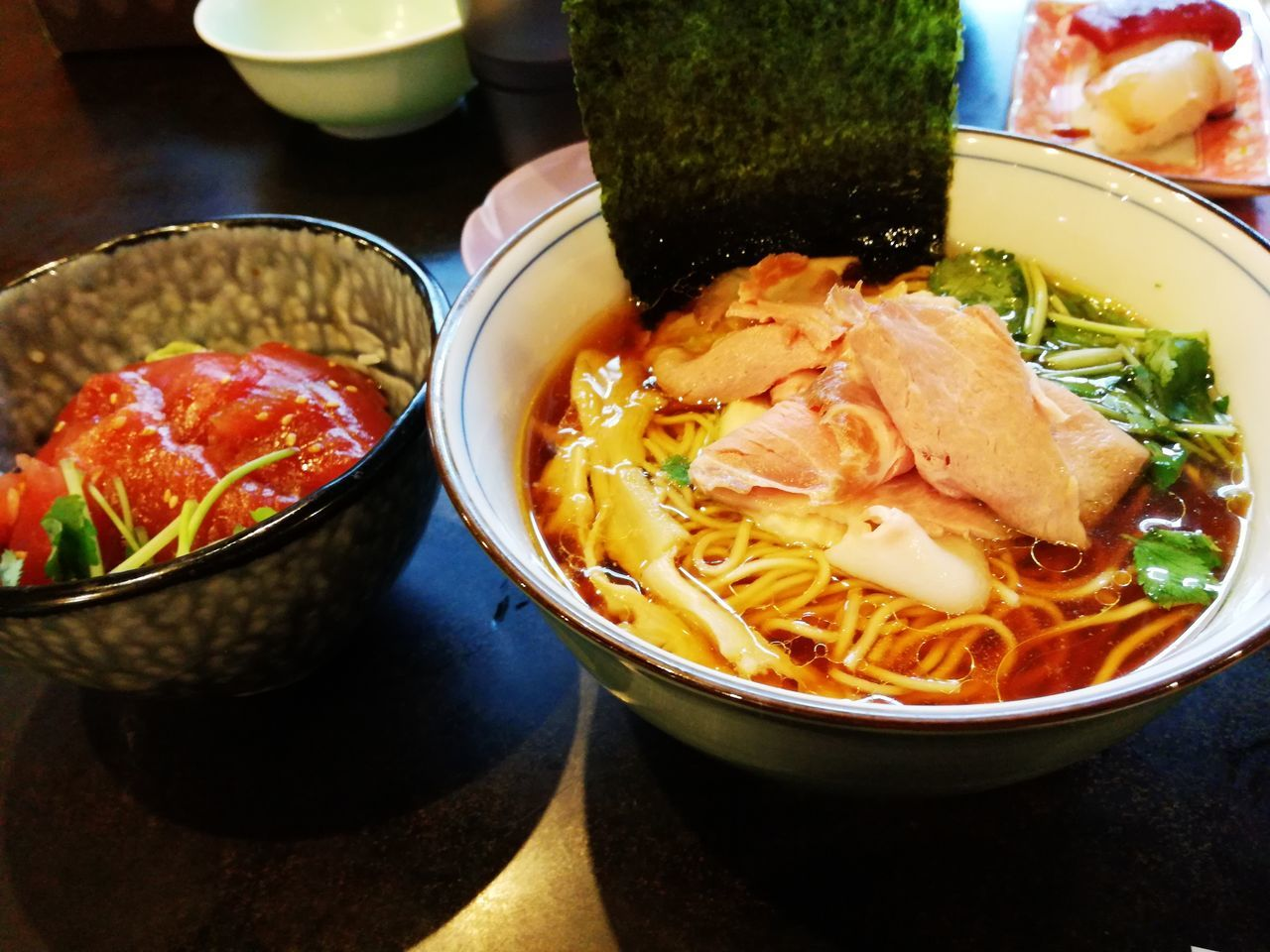 Food And Drink Ready-to-eat Freshness Bowl Indoors  Food Healthy Eating Soup Vegetable Meat No People Savory Food Stew Serving Size Homemade Close-up Noodle Soup Japaneasefood ラーメン Noodles 蛤ラーメンという変わり種も~