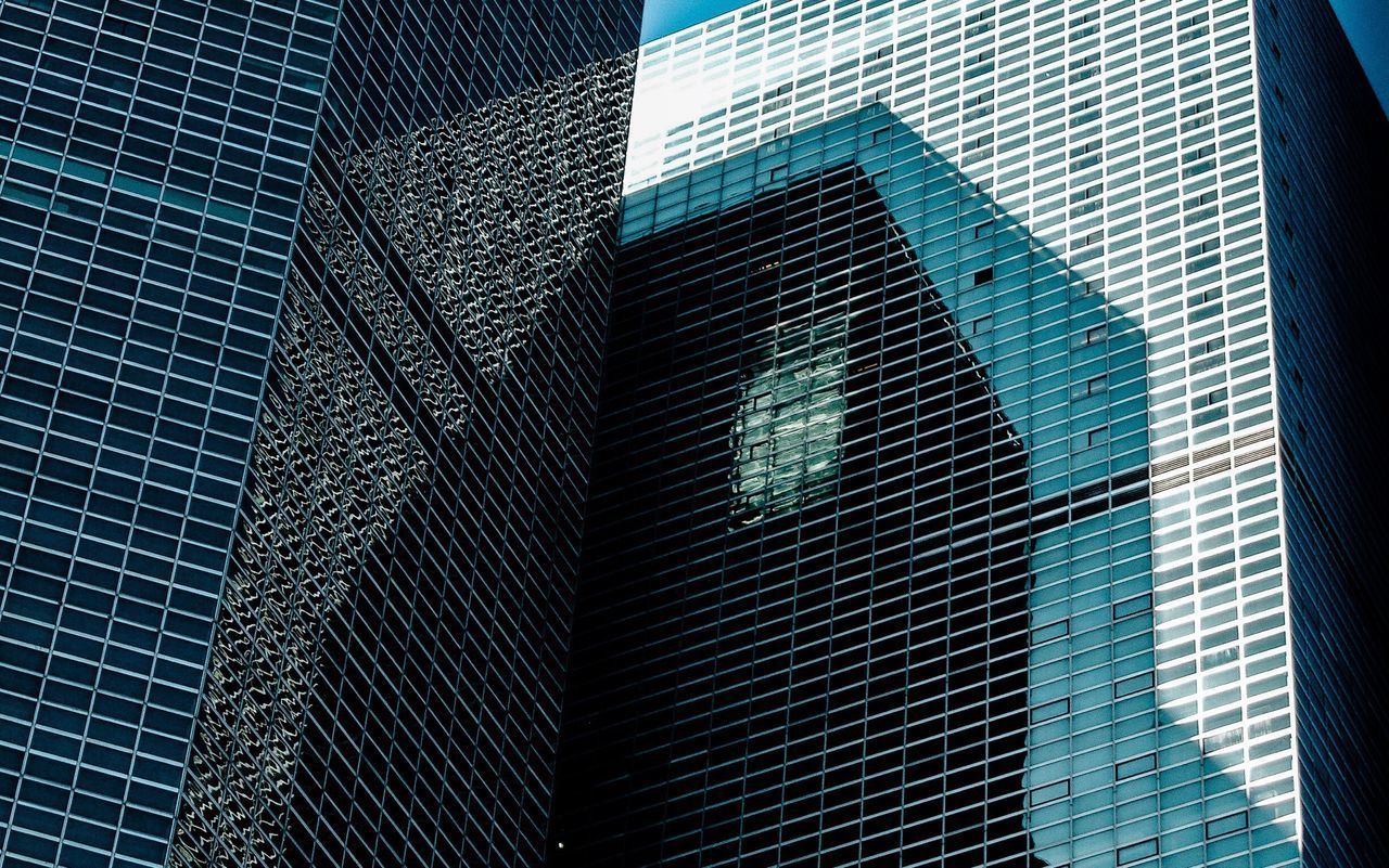 Shadows... Architecture Building Exterior Modern Skyscraper Built Structure Outdoors City Day Low Angle View Growth No People Full Frame The Architect - 2017 EyeEm Awards