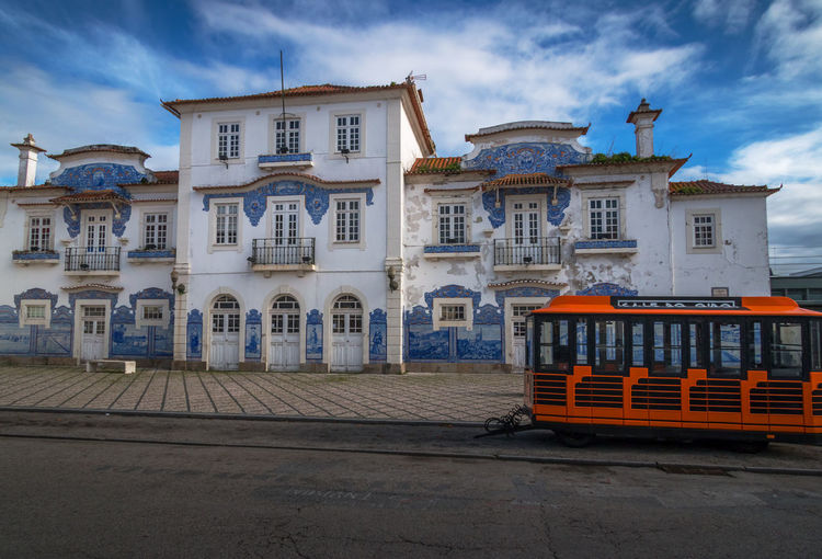 Aveiro oldt train station Architecture Aveiro Azulejos Porto Portugal Building Exterior Built Structure Day No People Outdoors