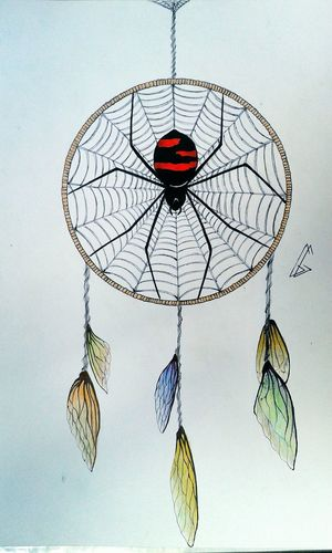 Dreamcatcher Drawing Art Insects