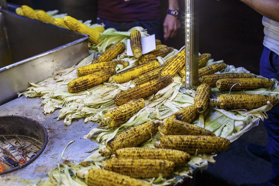 Roasted corn cart - Istanbul, Turkey Cart Corn Fast Food Food Istanbul Learn & Shoot: After Dark Redy Roasted Roasted Corn Roasted Corn Cart Travel Traveling Turkey