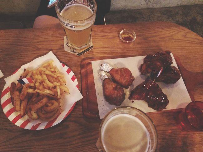 Girl Boys Beer Fried Chicken