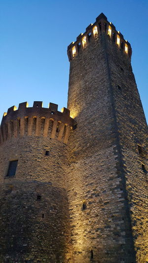 """""""The Rock"""" tower, old city center of Umbertide, Perugia, Italy. Unedited Samsung Galaxy S6 photo. Umbertide Italy Perugia Nightphotography Night Lights Samsung Galaxys6 Old Buildings Old Town Old City"""