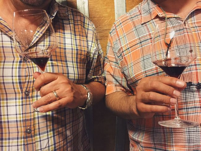 Two Is Better Than One Person Holding Men Front View Casual Clothing Wine Tasting