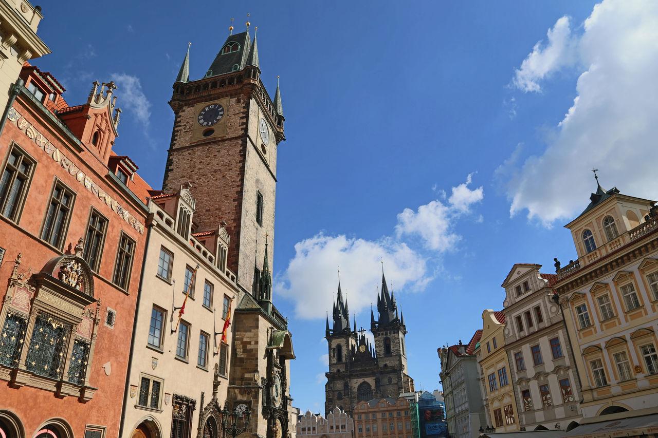 Beautiful stock photos of prague, architecture, building exterior, clock tower, travel destinations