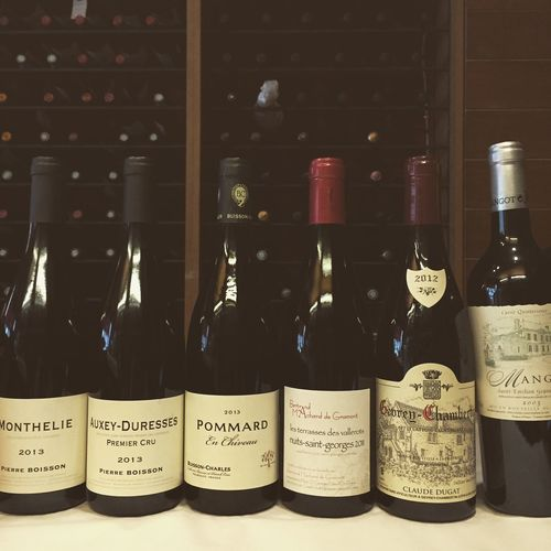 Fond the intruder in this selection for a 🇧🇷🇧🇷 customer ! Wine Bordeaux Burgundy